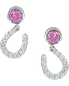 Montana Silversmiths Pink Luck by Starlight Earrings, Silver, hi-res
