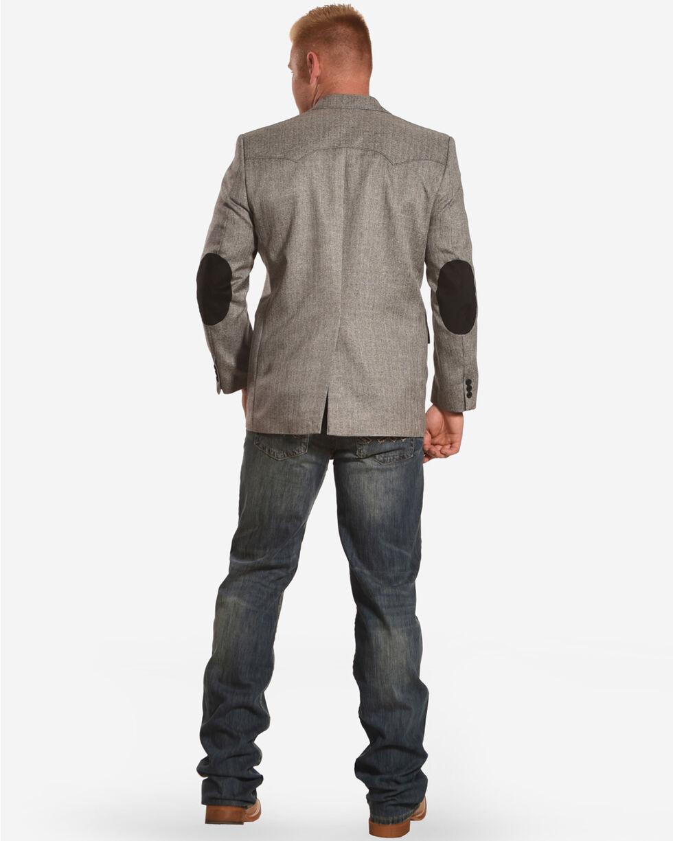 Circle S Men's Grey Herringbone Lubbock Sport Coat, Grey, hi-res