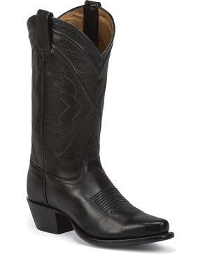 Tony Lama Women's El Paso Cowgirl Boots - Snip Toe, Black, hi-res
