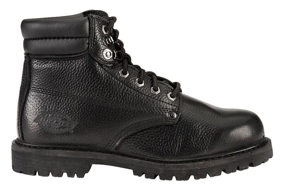 """Dickies Raider 6"""" Lace-Up Work Boots - Round Toe, Black, hi-res"""