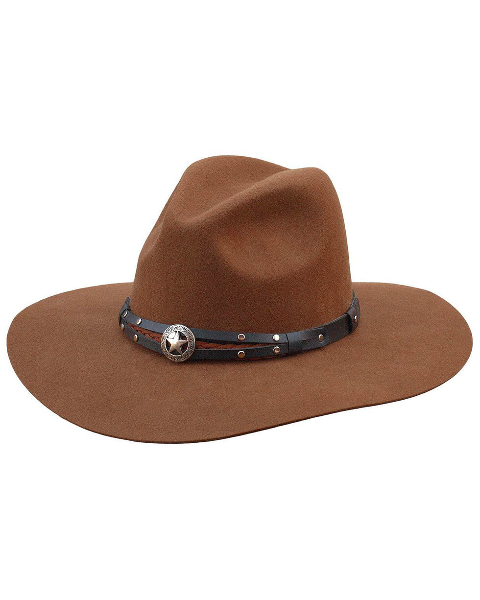 Silverado Women's Jane Pecan Crushable Wool Western Hat , Pecan, hi-res
