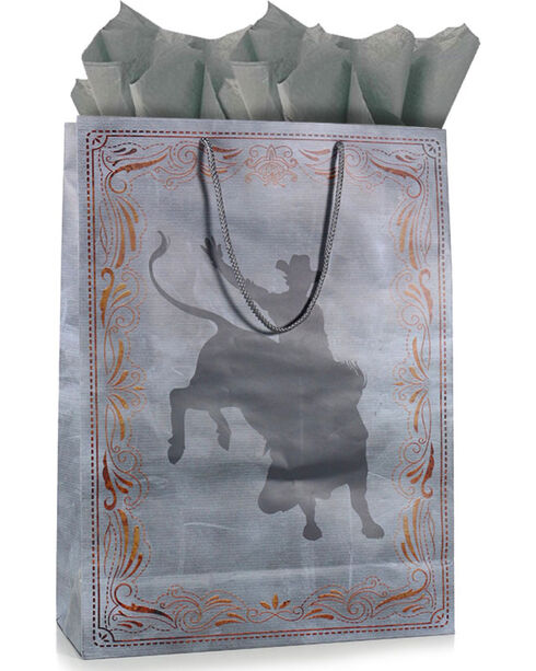 BB Ranch The Cowboy Way Gift Bag with Tissue Paper, No Color, hi-res