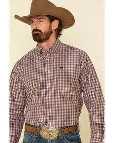 Cinch Men's Multi Small Plaid Plain Weave Long Sleeve Western Shirt - Big , Purple, hi-res