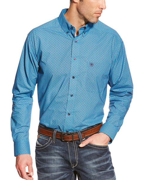 Ariat Men's Orland Long Sleeve Shirt, Blue, hi-res