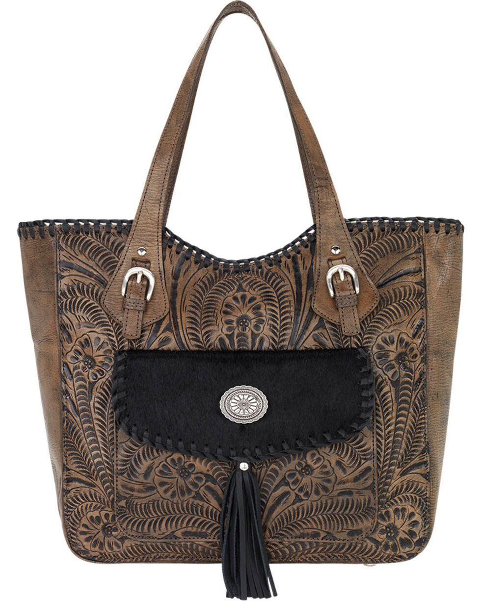 American West Brown Annie's Secret Large Tote, Brown, hi-res