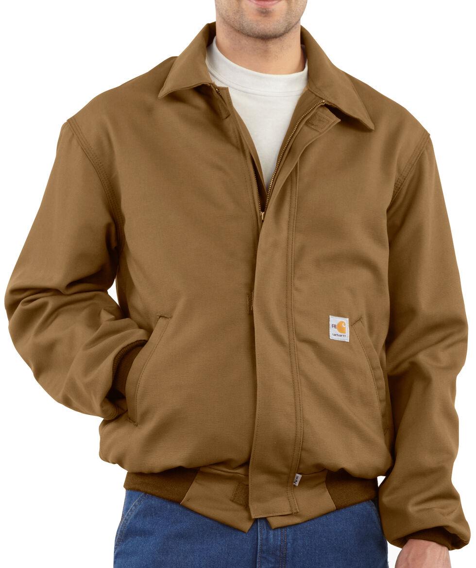 Carhartt Flame Resistant All-Season Bomber Jacket - Big & Tall, Brown, hi-res