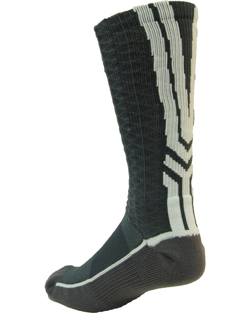 Cinch Men's Charcoal Mesh Crew Socks , Charcoal, hi-res