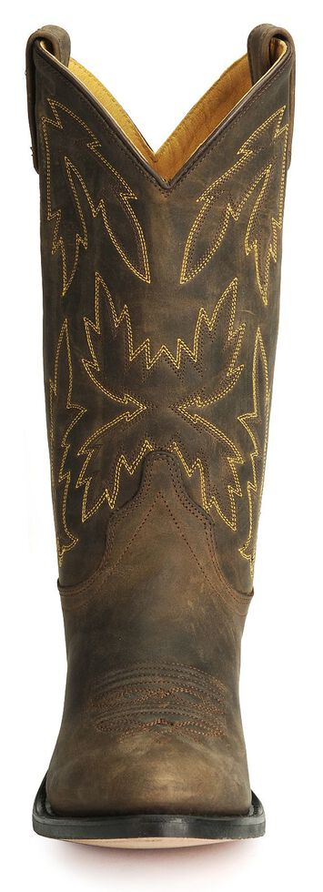 Old West Apache Leather Cowgirl Boots - Medium Toe, Apache Tan, hi-res