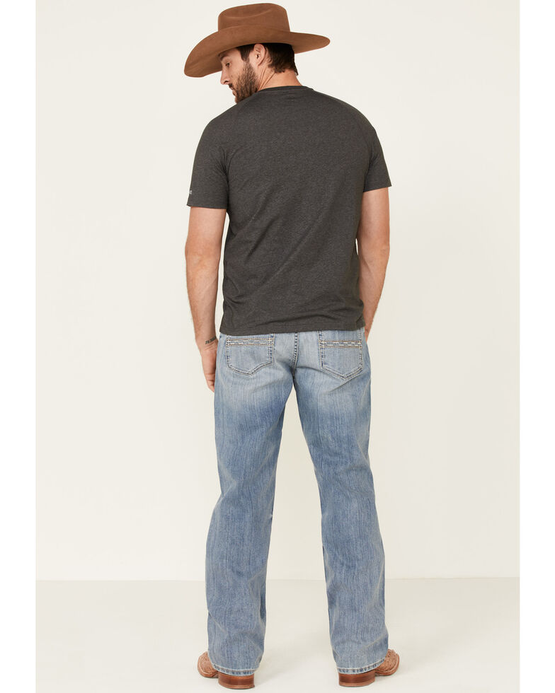 Cinch Men's Grant Light Stone Performance Stretch Relaxed Bootcut Jeans , Indigo, hi-res