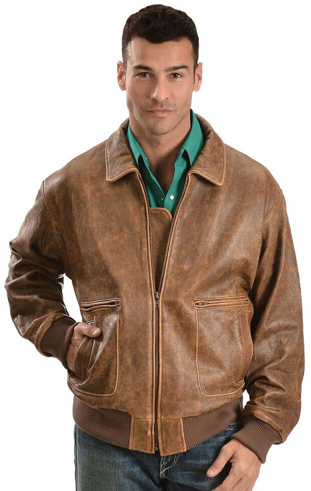 Scully Vintage Bomber Jacket, Brown, hi-res