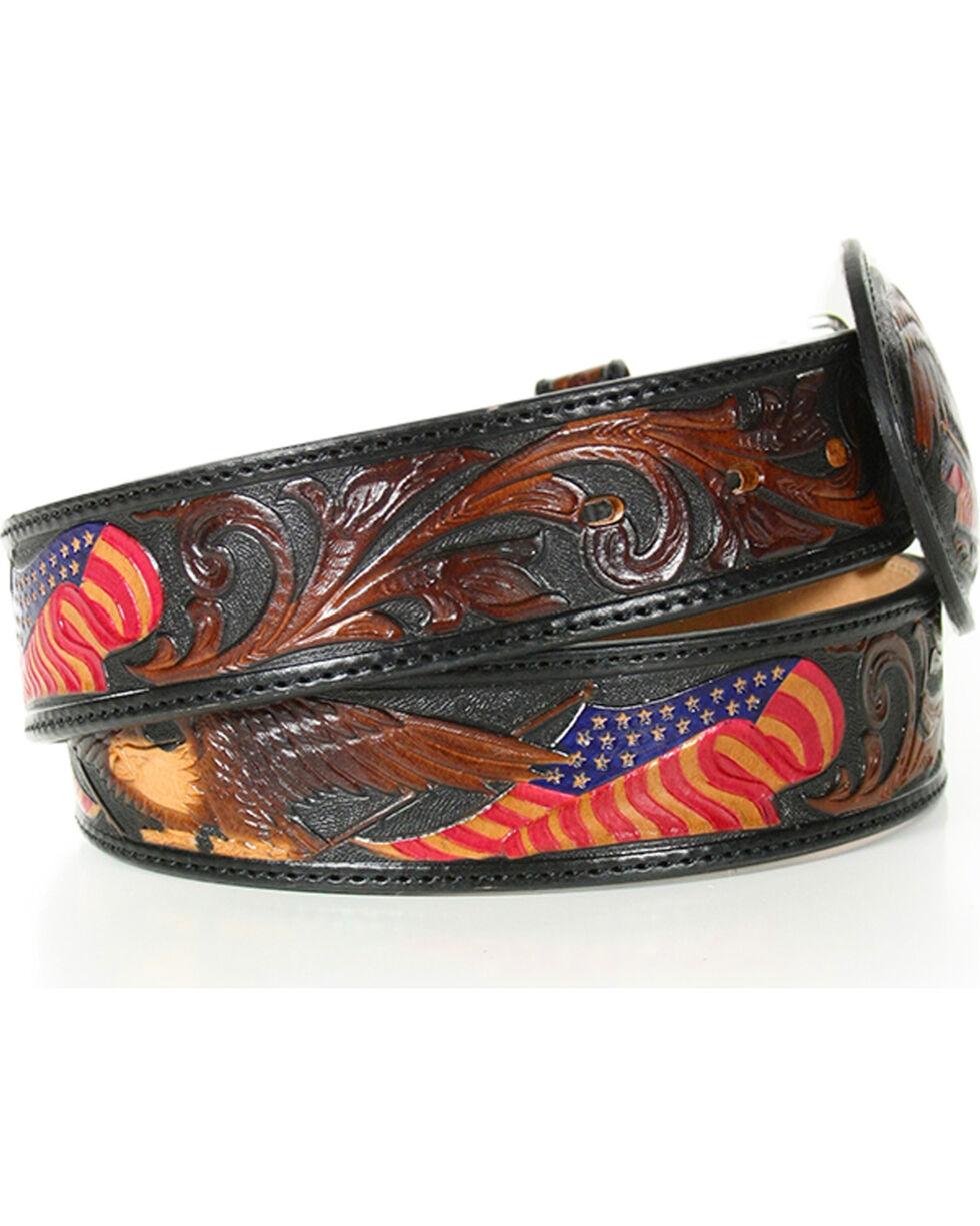 Silver Creek Men's American Heritage Eagle Belt , Brown, hi-res