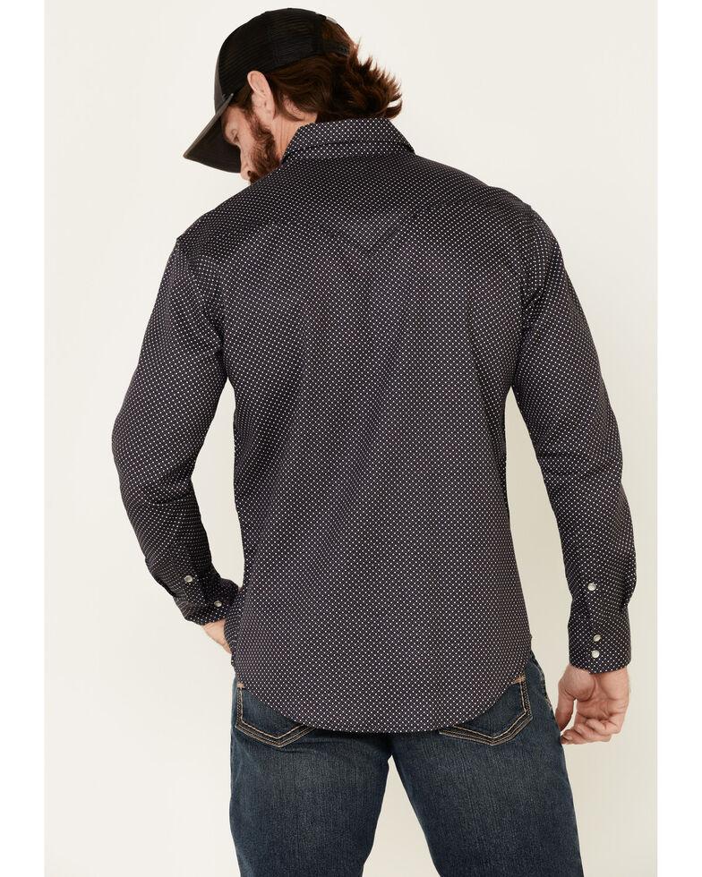 Rock & Roll Denim Men's FR Charcoal Geo Print Long Sleeve Work Shirt - Big , Charcoal, hi-res