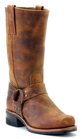 Frye Men's Harness Engineer 12R Boots - Square Toe, Dark Brown, hi-res