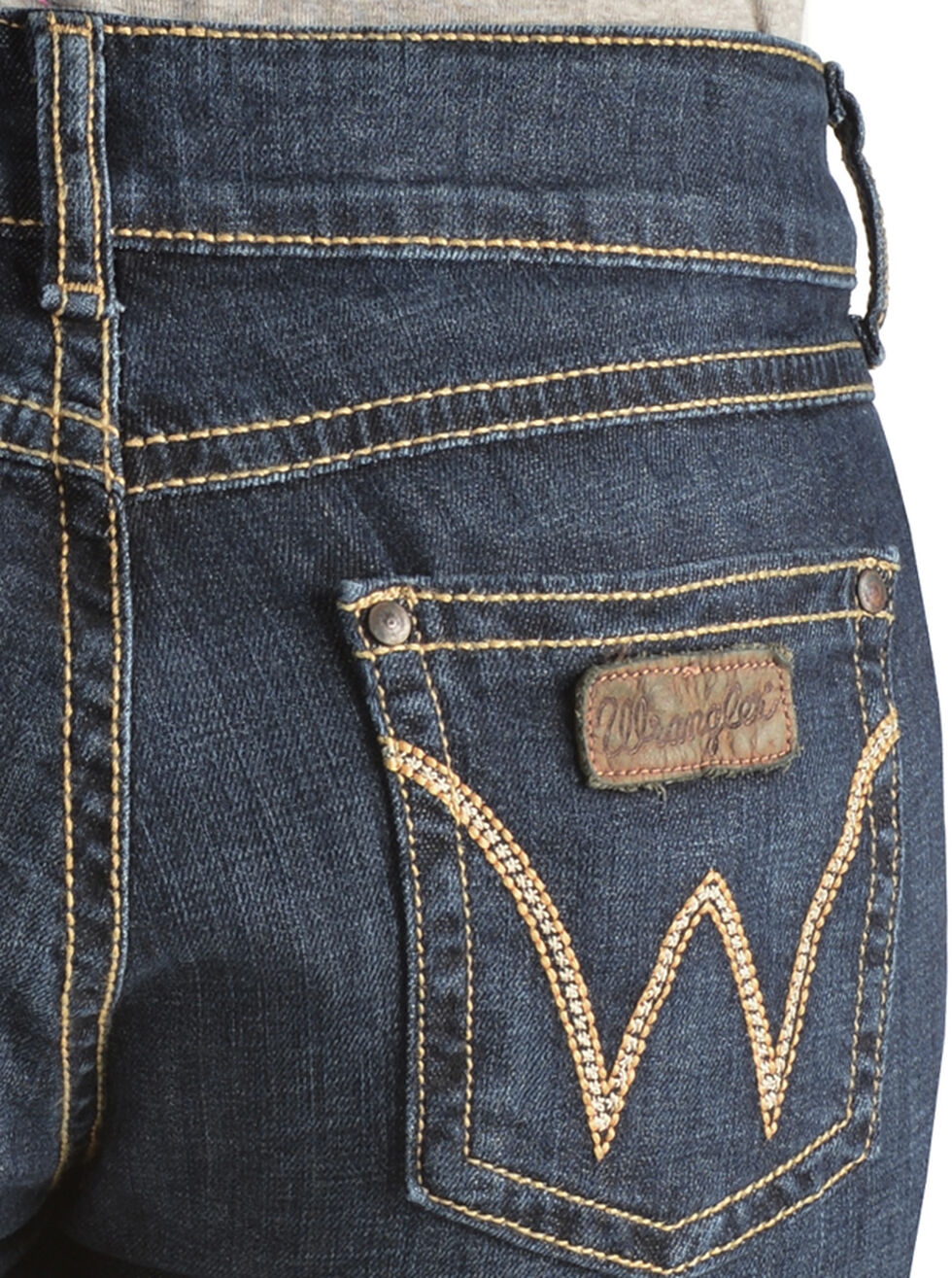 Wrangler Women's Dark Wash Retro Mae Jeans, Denim, hi-res