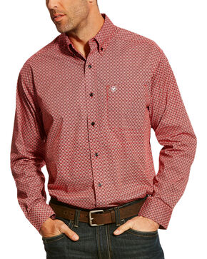 Ariat Men's Red Camilo Stretch Print Shirt , Multi, hi-res