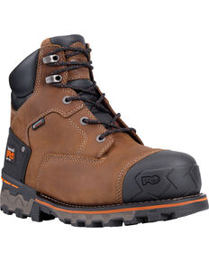 "Timberland PRO Men's Boondock 6"" Waterproof Work Boots - Soft Toe, Brown, hi-res"