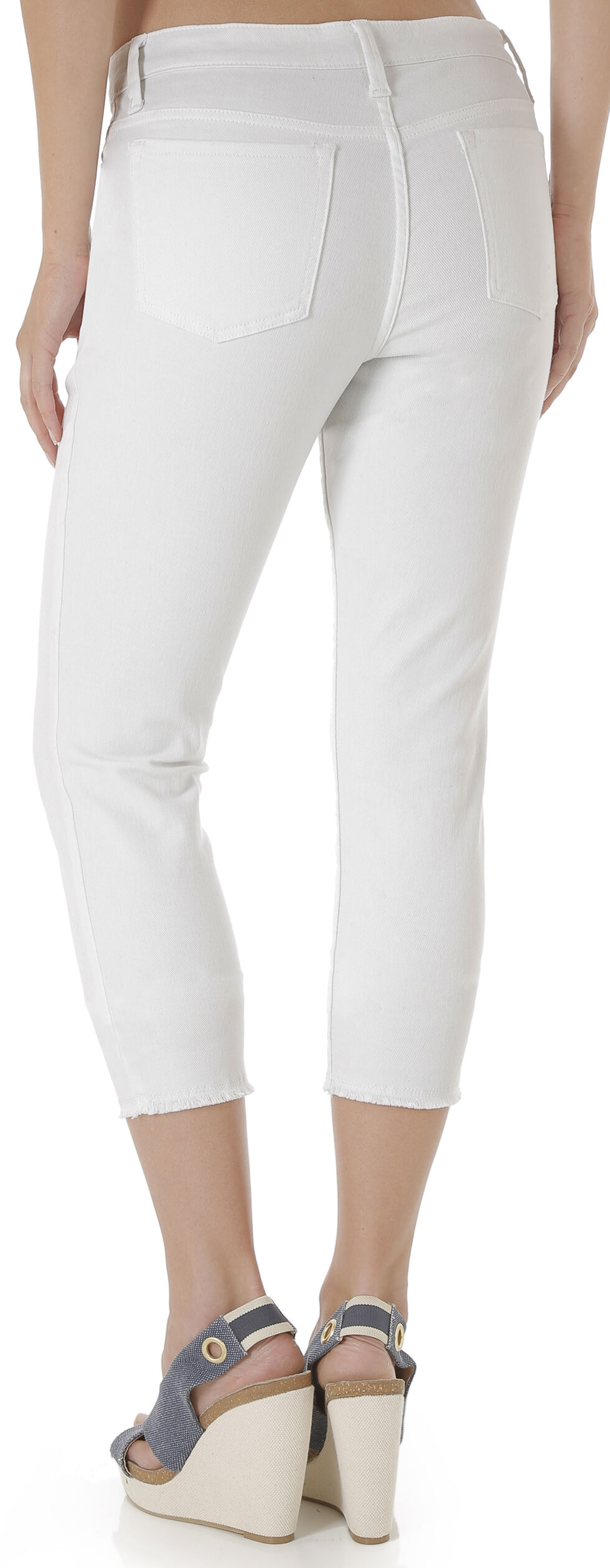 Wrangler Women's Retro White Cropped Jeans, White, hi-res