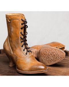 Oak Tree Farms Tan Eleanor Boots - Medium Toe, Tan, hi-res