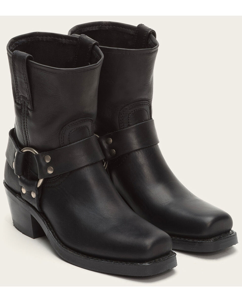 Frye Women's Harness 8R Boots - Square Toe , Black, hi-res