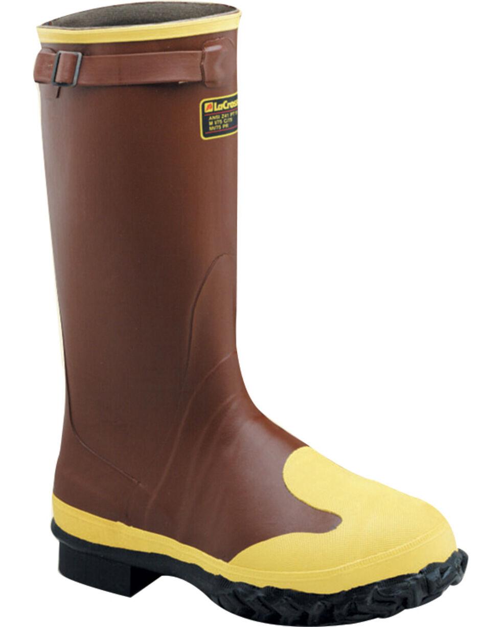 "Lacrosse Men's 16"" Protecta Steel Toe Work Boots - Round Toe , Rust Copper, hi-res"