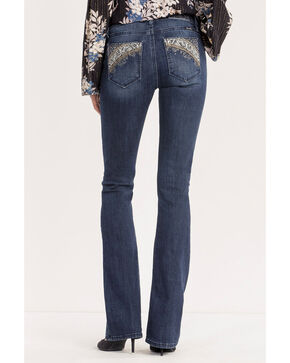 Miss Me Women's Danger Zone Mid-Rise Boot Cut Jeans , Indigo, hi-res
