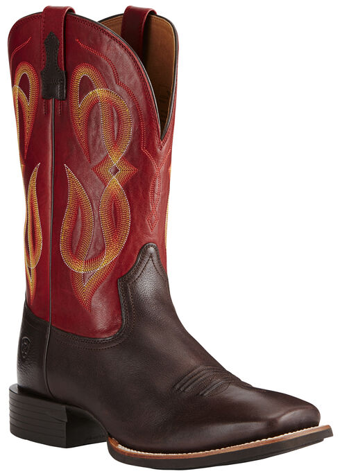 Ariat Men's Brown Quantum Brander Boots - Wide Square Toe, , hi-res