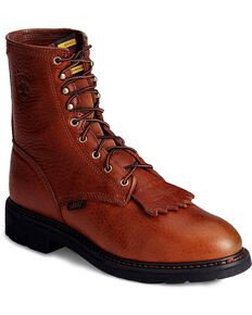 "Ariat Cascade 8"" Lace-Up Work Boots, Bronze, hi-res"
