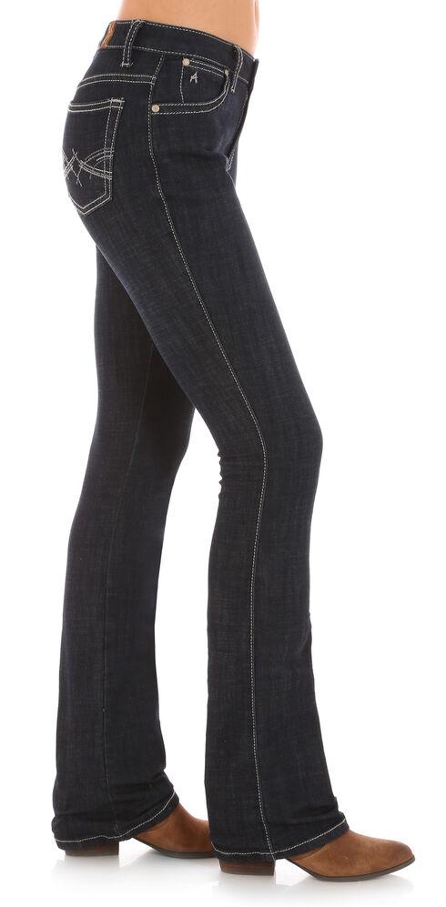 Wrangler Aura Women's Indigo Instantly Sllmming Stitch Pocket Jeans - Boot Cut, Indigo, hi-res