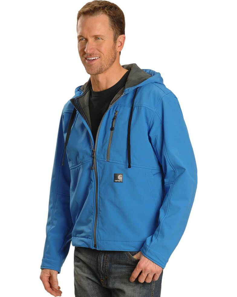 Carhartt Men's Water Resistant Soft Shell Hooded Work Jacket, , hi-res