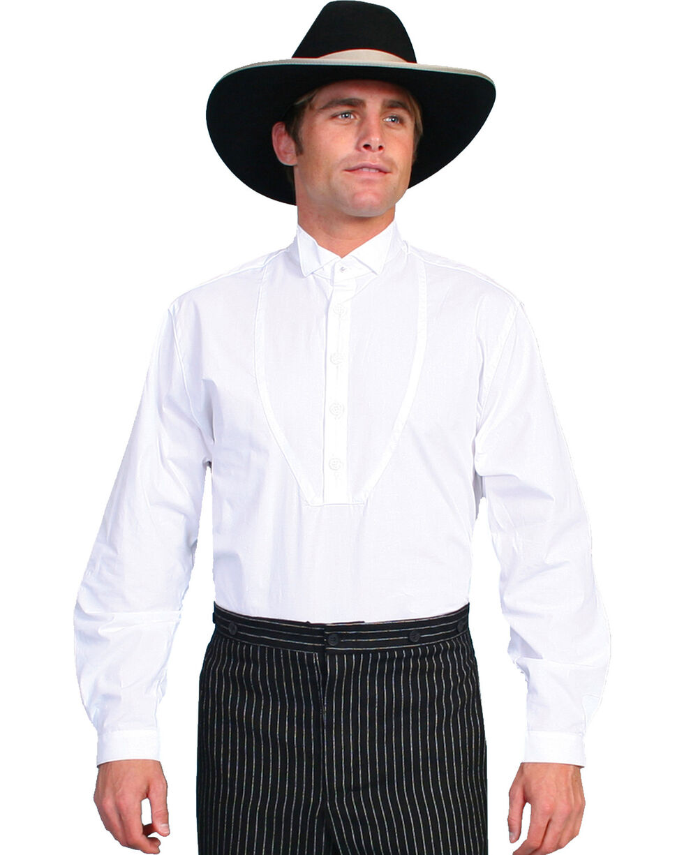 Rangewear by Scully Wing Tip Collar Long Sleeve Shirt - Big & Tall, White, hi-res