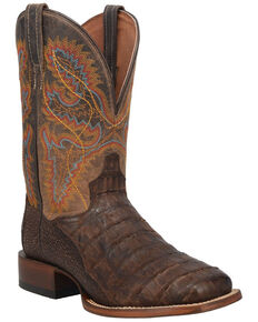Dan Post Men's Maxwell Western Boots - Wide Square Toe, Brown, hi-res