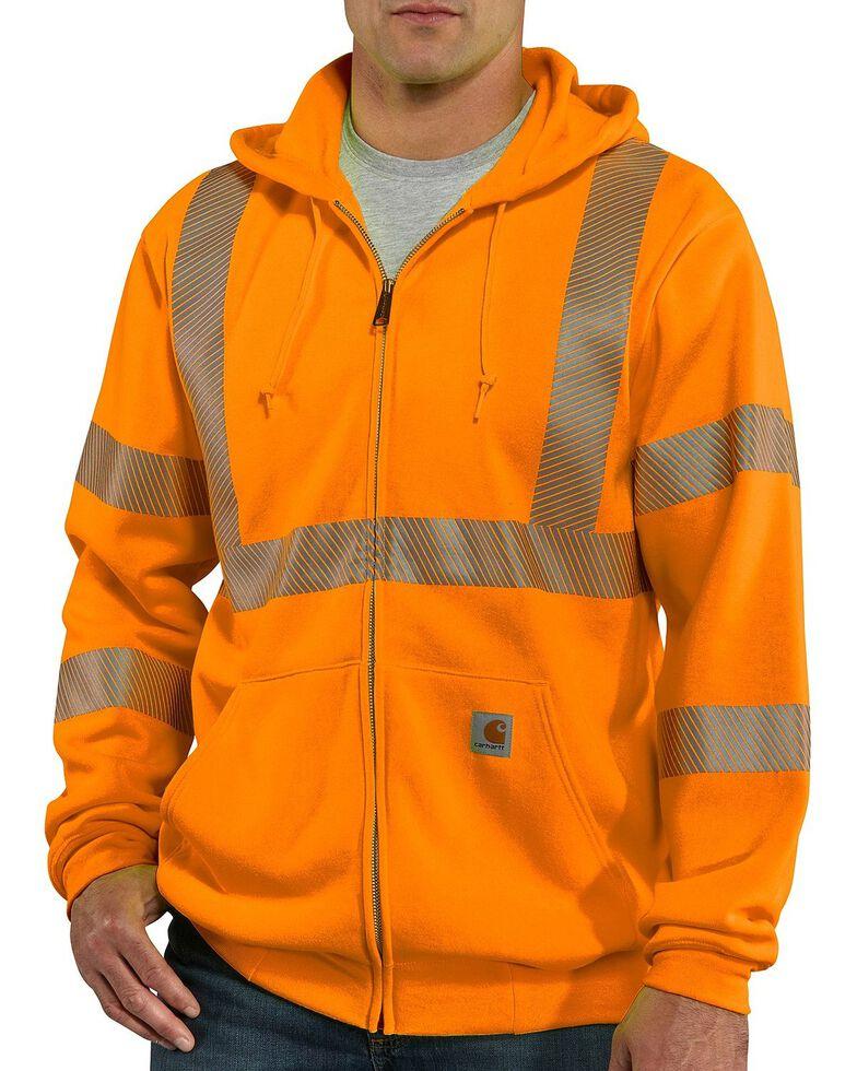 Carhartt High-Visibilty Zip-Front Class 3 Jacket, Orange, hi-res