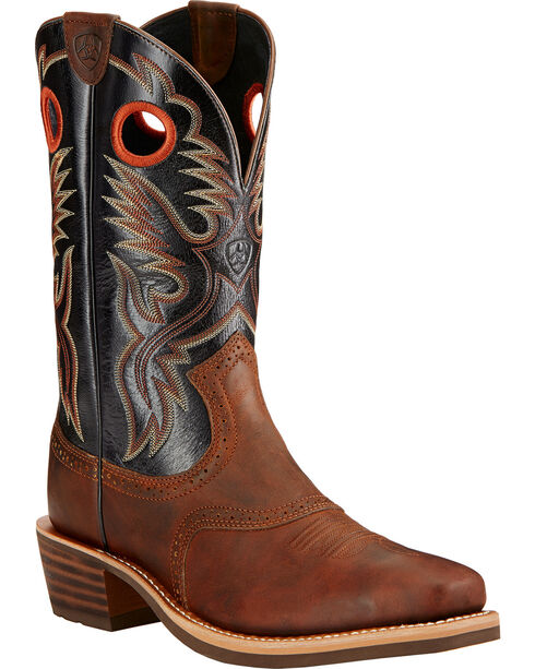 Ariat Men'314Boots - Square Toe, Mahogany, hi-res