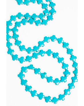 Jewelry Junkie Women's Multi-Cross Turquoise Necklace , Multi, hi-res