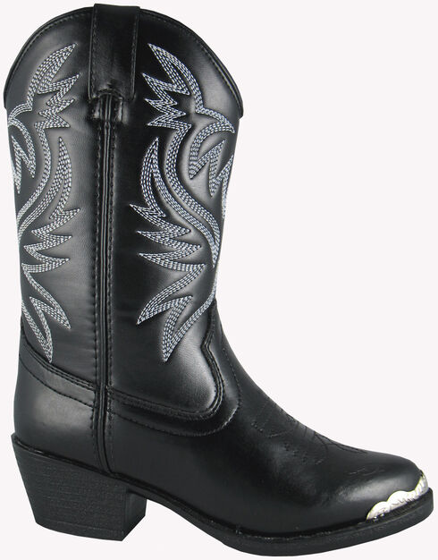 Smoky Mountain Youth Boys' Mesquite Western Boots - Round Toe, Black, hi-res