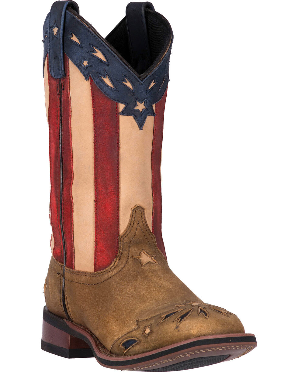 Laredo Freedom Cowgirl Boots - Square Toe, Wheat, hi-res