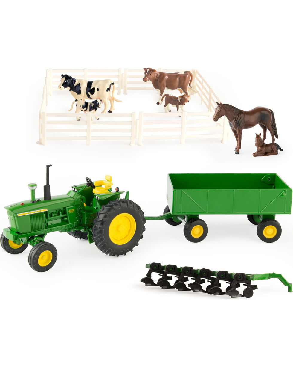Ertl John Deere Farm Toy Playset , Green, hi-res