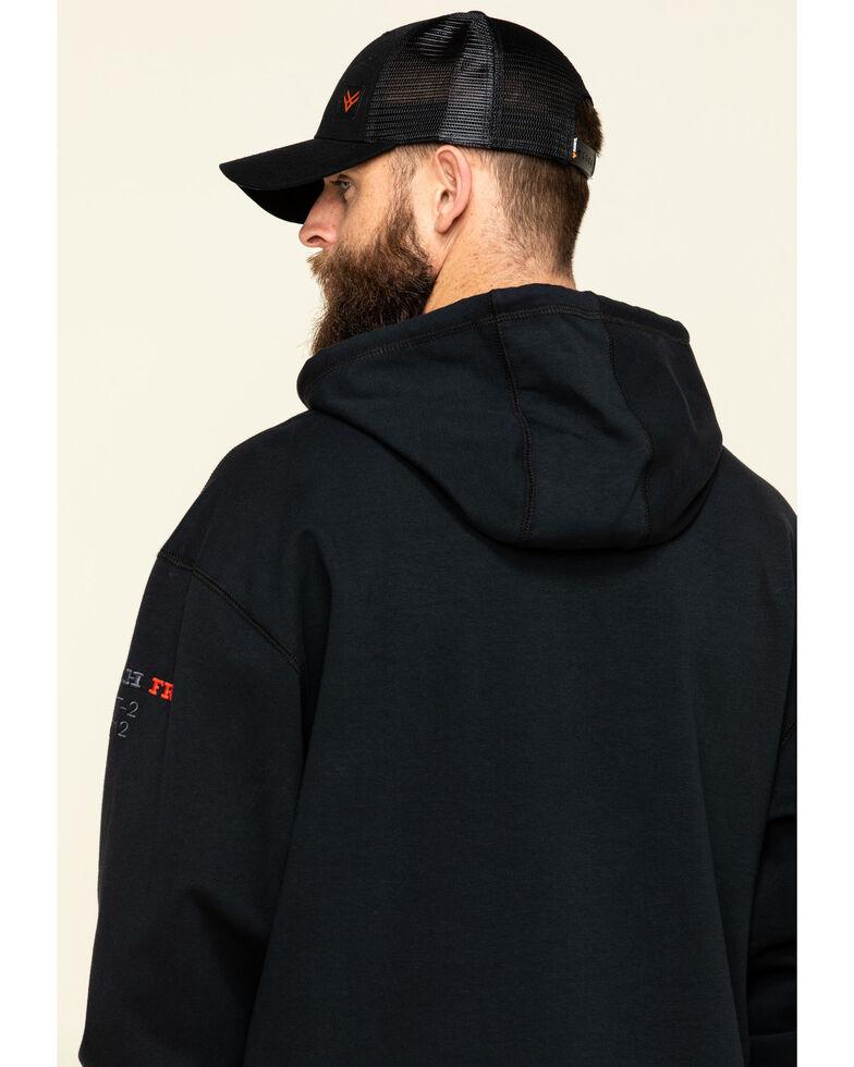 Cinch Men's FR Black Pullover Hooded Work Sweatshirt , Black, hi-res