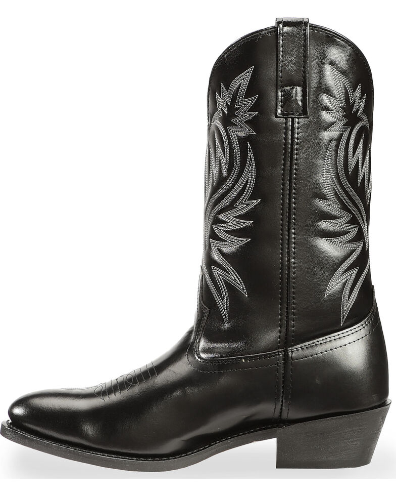 Laredo Men's Basic Cowboy Boots, Black, hi-res