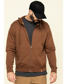 Wrangler Riggs Men's Coffee Full Zip Hooded Work Jacket, Coffee, hi-res