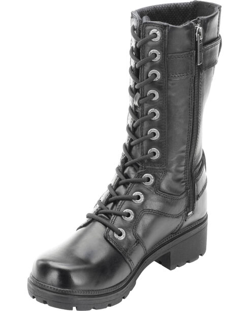 Harley Davidson Women's Eda Lace-Up Harness Boots, Black, hi-res