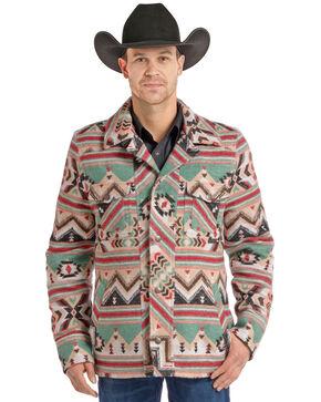 Powder River Outfitters Men's Aztec Wool Jacket, Tan, hi-res