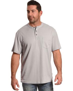 American Worker Men's Light Grey Trumbull Short Sleeve Henley, , hi-res