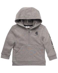 Carhartt Toddler & Infant Boys' Dark Grey Heavy Zip-Front Fleece Sweatshirt , Grey, hi-res
