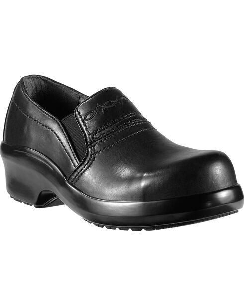Ariat Expert Safety Clog Slip-On Shoes - Composition Toe, Black, hi-res