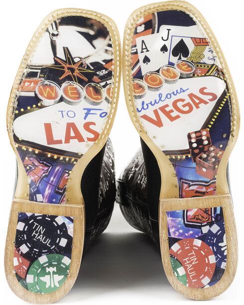 Tin Haul Women's Winning Hand Casino Sole Cowgirl Boots - Square Toe, Black, hi-res