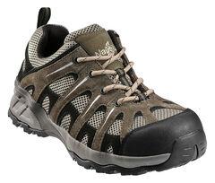 Nautilus Men's Suede Leather Work Shoes - Composition Toe, Khaki, hi-res