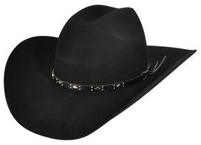 Bailey Western Dynamite 2X Black Cowboy Hat, Black, hi-res