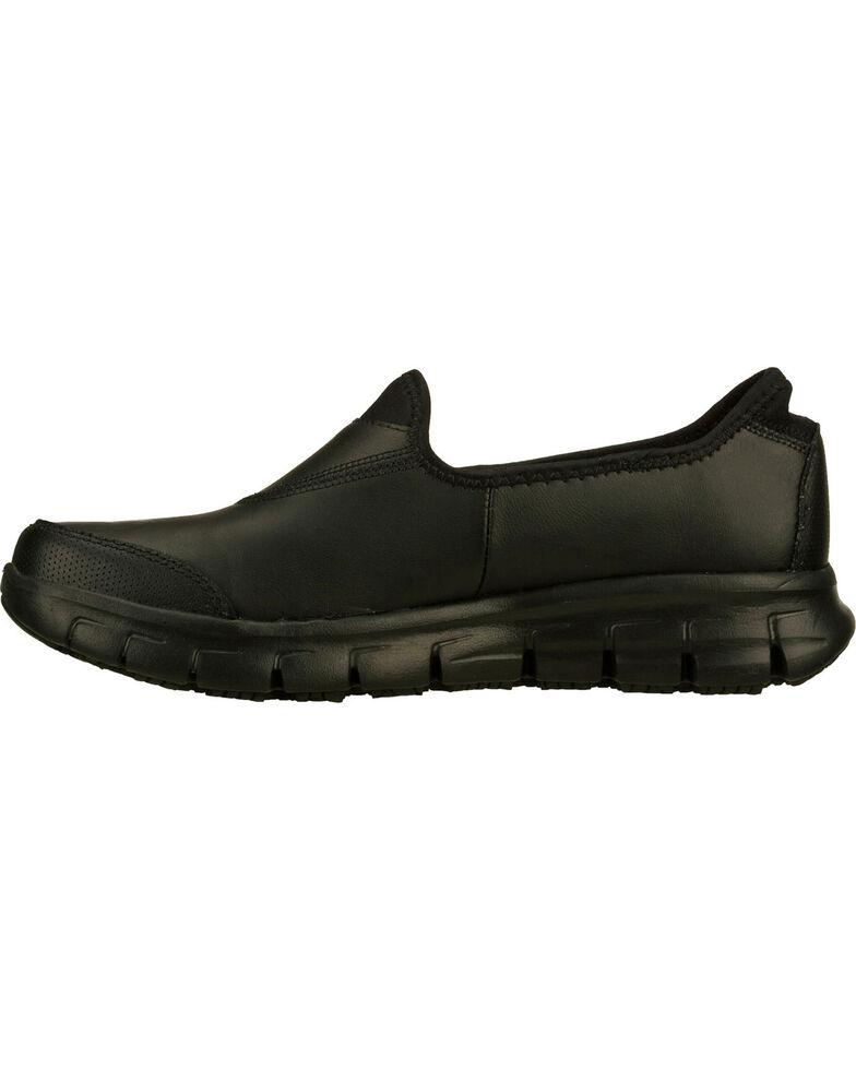 Skechers Women's Black Sure Track Slip Resistant Slip-On Work Shoes , , hi-res