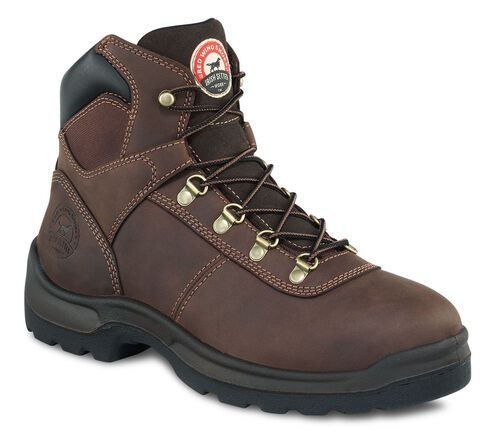 Red Wing Irish Setter Ely Hiker Work Boots - Round Toe, Brown, hi-res